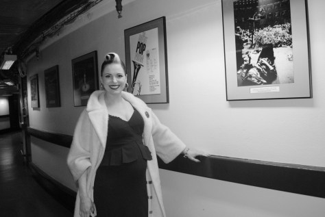 A proud mom to be Imelda May in 2012 at Dubliner's final concert London's Royal  Albert Hall . Gerry Molumby.jpg