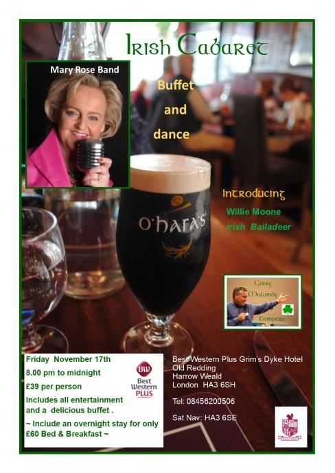 Irish Christmas Dinner Dance Grims Dyke December 2nd 2017