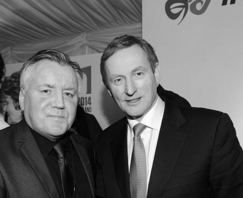 Lobbying Taoiseach Enda Kenny on a visit to the UK Gerry Molumby