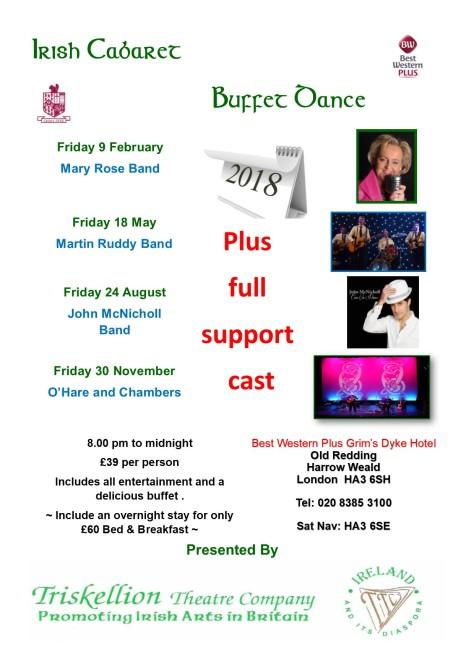 2018 Irish Cabaret Nights at Grims Dyke