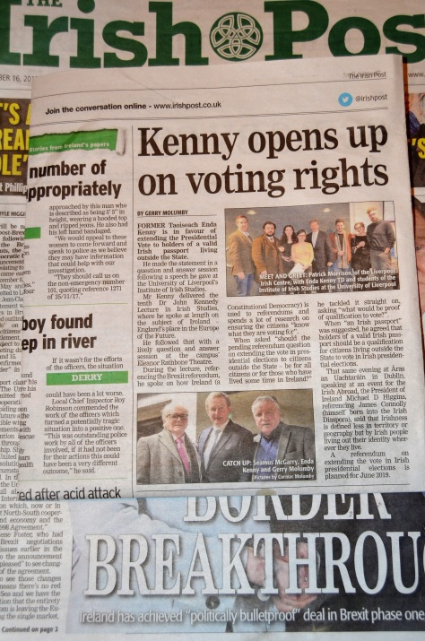 Enda Kenny supports a vote in presidential elecion for all passport holders.jpg