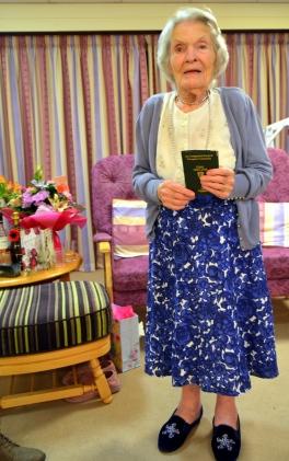 Sarah Jane Hughes 100th birthday Wednesday November 7th 2018 Gerry Molumby (1).JPG