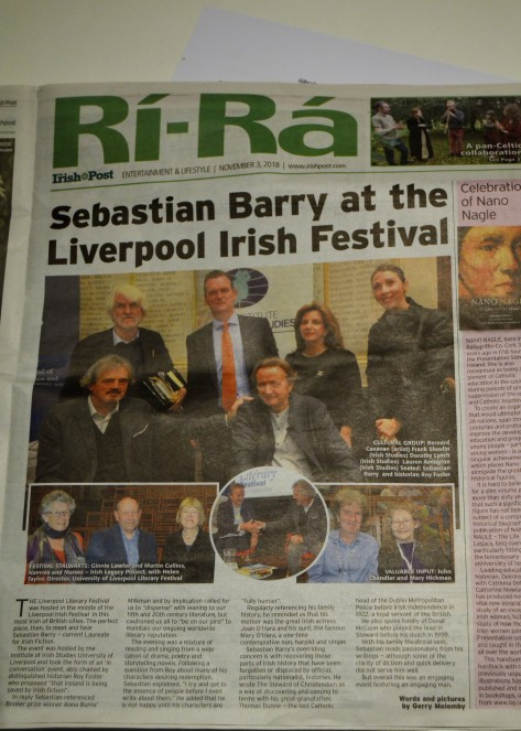 Sebastian Barry at Liverpool Irish Festival September 2019 Gerry Molumby.JPG