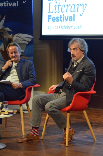 Sebastian Barry in conversation with Professor Roy Foster at Liverpool Irish and  Li (5).JPG