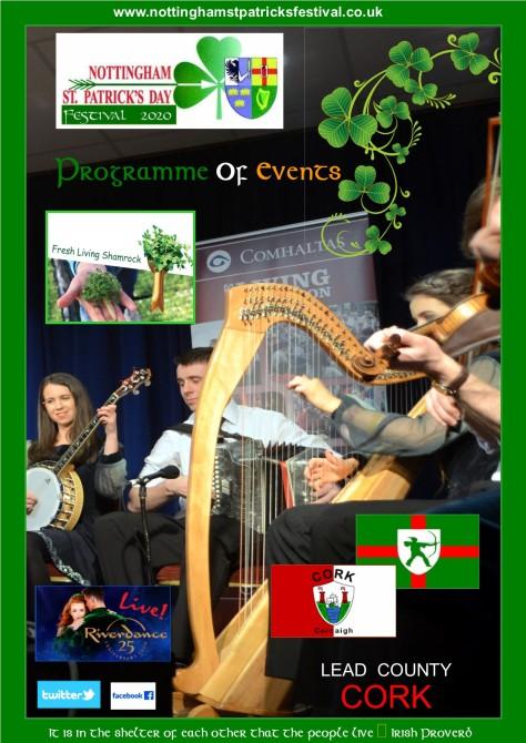 St. Patrick's Festival Nottingham 2020 Brochure Gerry Molumby