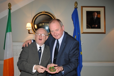 Embassy Reception April 16th for Irish Dancing 2014 John Cullinane author of Irish Dancing in London and Patrick O'Connell OBE. Picture Gerry Molumby